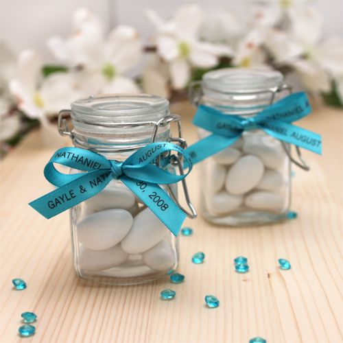 personalized glass favor jar ideas #weddings #bridalshower #BeachFavors http://www.favorcouture.theaspenshops.com
