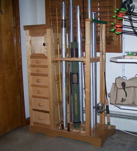 1000 images about diy garage storage ideas on pinterest for Homemade fishing rod storage ideas