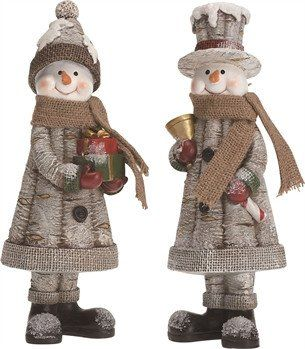 Snowman Woodland Figurines - FancySchmancyDecor