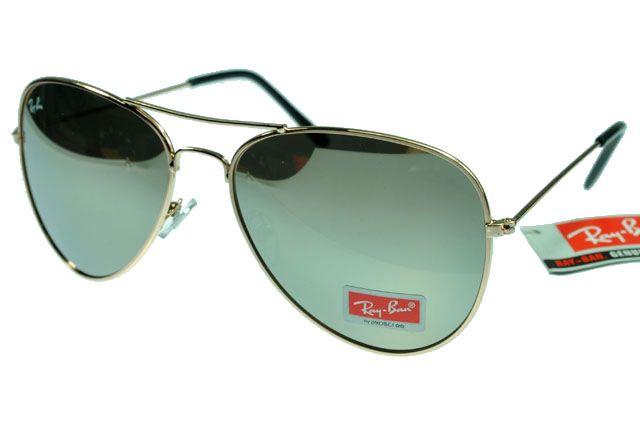 Ray-Ban Aviator 3025 Black Golden Frame Silver Lens RB1138 [RB-1147]