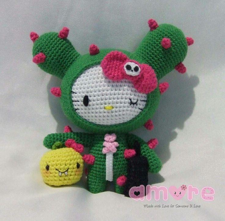 Amigurumi Hello Kitty Tokidoki Cactus