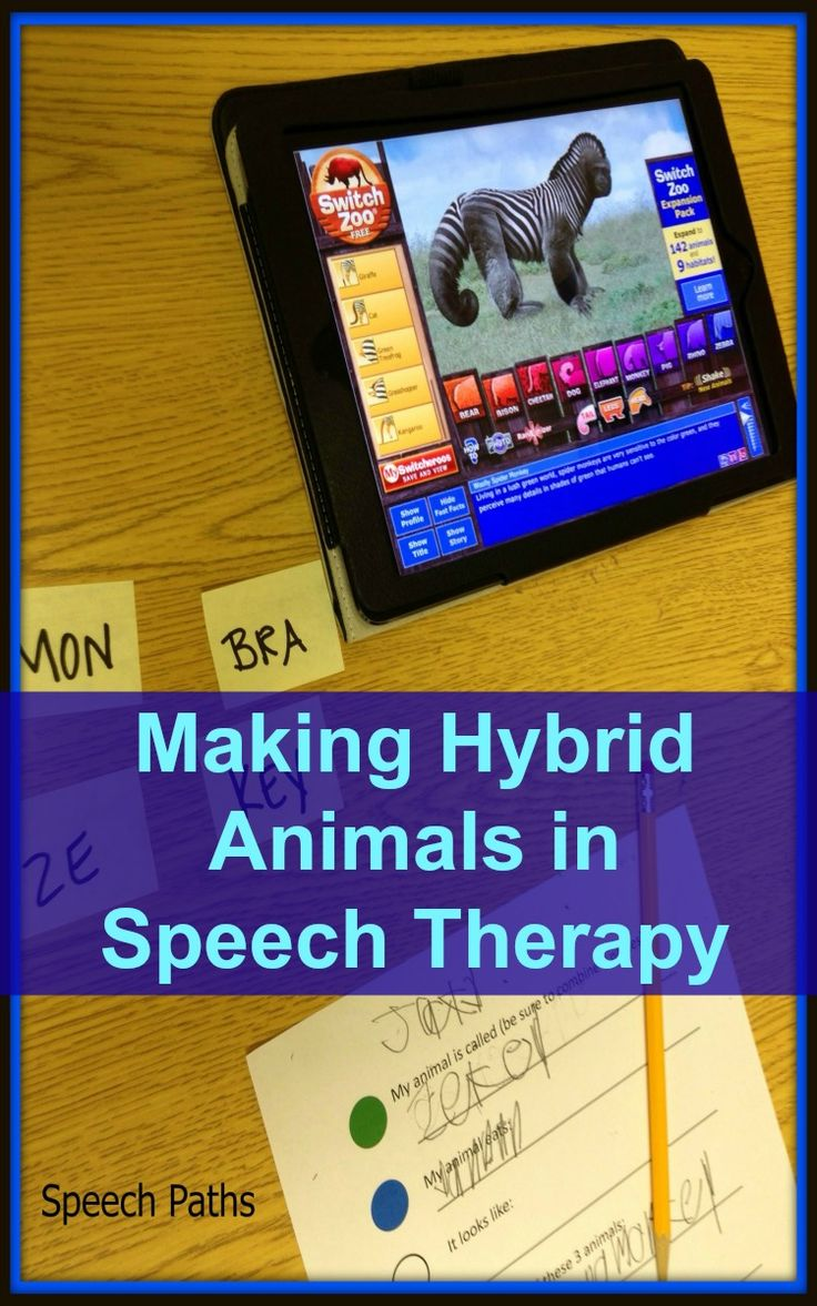 "Target language, vocabulary and phonological processing skills making a ""Hybrid Zoo""!  Use the free app or website.  Links to worksheets."
