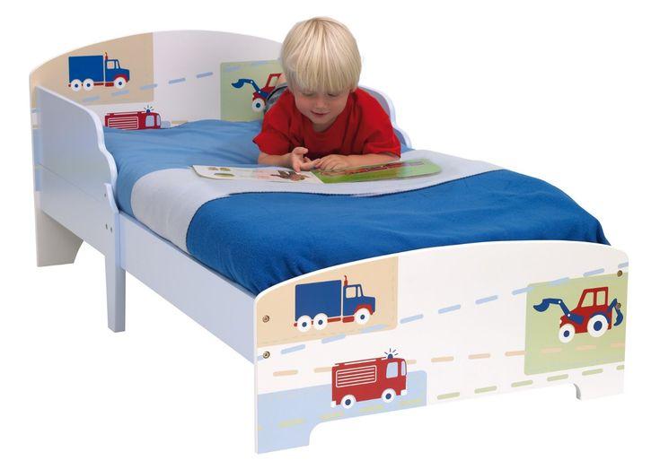 CAMA INFANTIL MADERA DIBUJO COCHES. 450EEV. SIN COLCHÓN, IndalChess.com Tienda de juguetes online y juegos de jardin