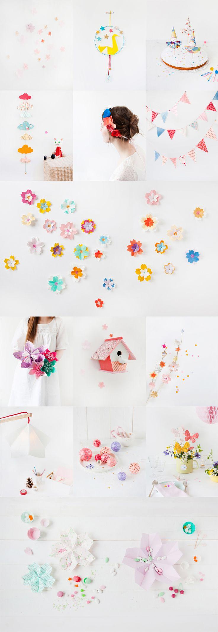 DIY paper decorations ...^^^  griottes.fr_livre_fetepapier3