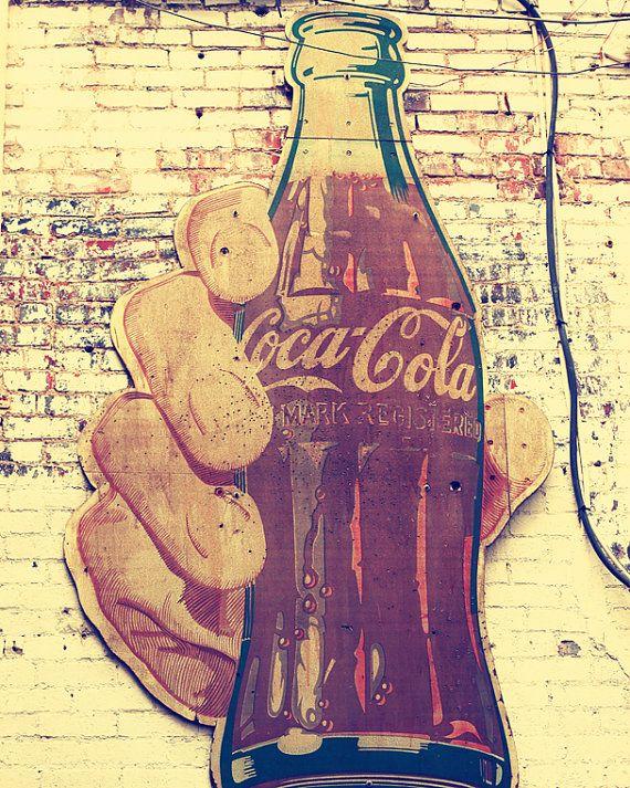 16.64 industrial decor coca cola sign photography Nashville art print vintage retro coke decor signage photograph print