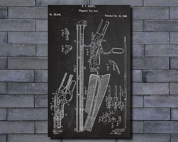 198 best diy blueprint art images on pinterest hand guns magazine fire arm patent poster art print home decor blueprint wall art poster illustration canvas art malvernweather Gallery