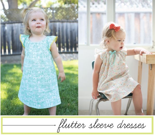 flutter sleeve dresses