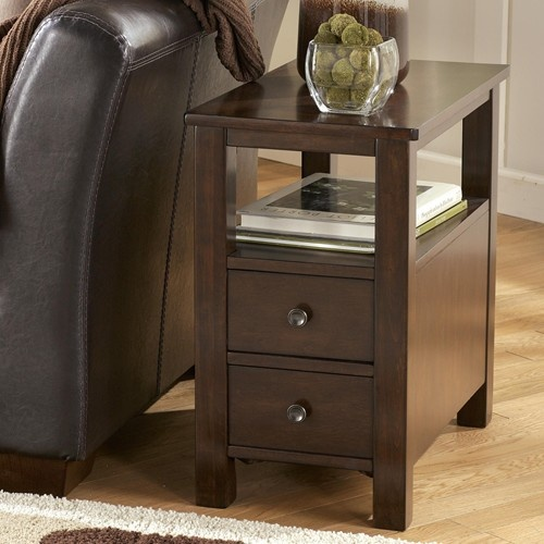 Marion Chairside Cabinet Table with Shelf and 2 Drawers by Signature Design by Ashley - Royal Furniture - Occasional Cabinet Memphis, Jackson, TN, Southaven, MS, West Memphis, AR