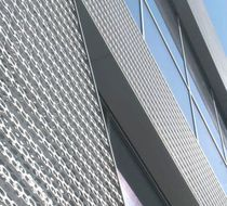 Perforated sheet metal / steel / for facades / square perforations