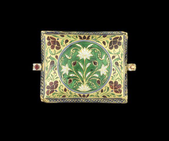 A diamond-set enamelled gold bazuband North India, 19th Century