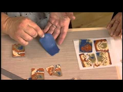 """Video - Julie Picarello shows how she does a Mokume Gane pendant with a """"lazy river"""" insert.  #Polymer #Clay #Tutorials"""