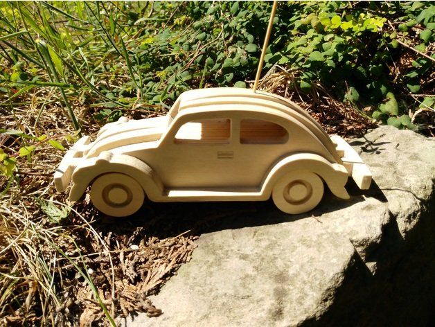 VW Beetle Cnc cut from 3mm birch plywood  | beetle | Wooden