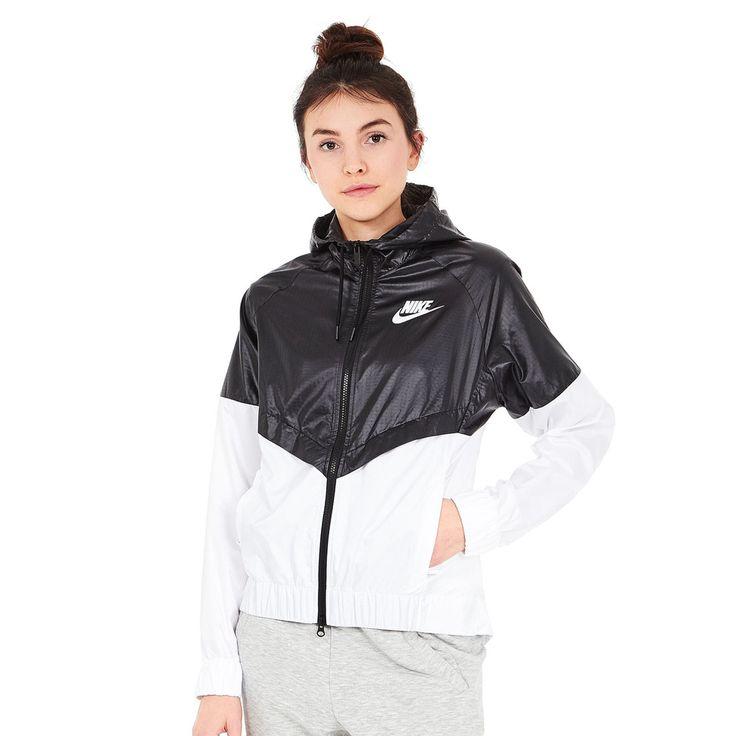 Nike - WMNS Sportswear Windrunner Jacket (Black / White / White) günstig online kaufen bei hhv.de - Übergangsjacken Damen von Top-Marken verfügbar in unserem Online-Shop - Versandkostenfrei bestellen ab 80€!