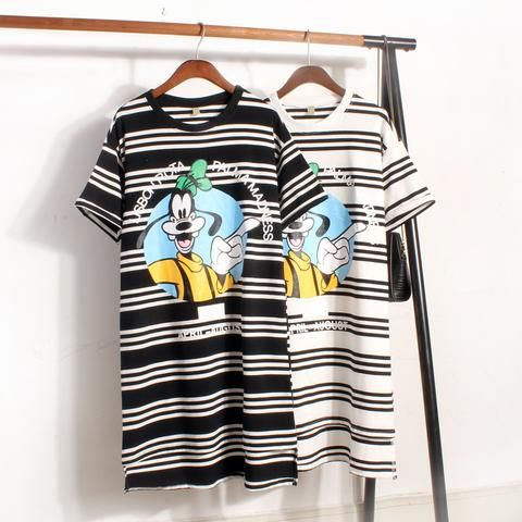 Cute Guffi Fashionable Stripe Casual Fashion Dress