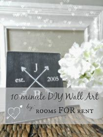 ~rooms FOR rent~: 10 minute DIY Wall Art