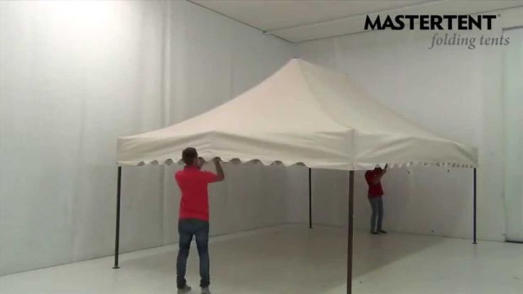 Setup of an 6x4 m elegant folding tent