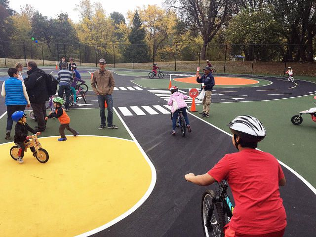 At This Bike Playground, Youngsters Be taught To Trip On Mini Metropolis Streets