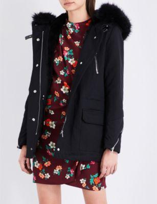 2017 $605 MAJE Gafeto cotton-blend parka coat