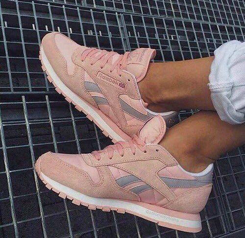 Pink suede Reebok