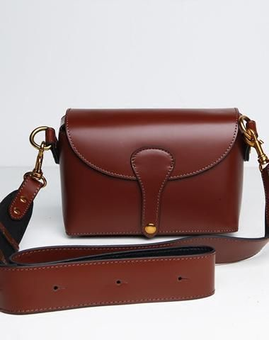 6d82e3d316b6 Genuine Leather Cute Brown Small Crossbody Bag Shoulder Bag Women Girl