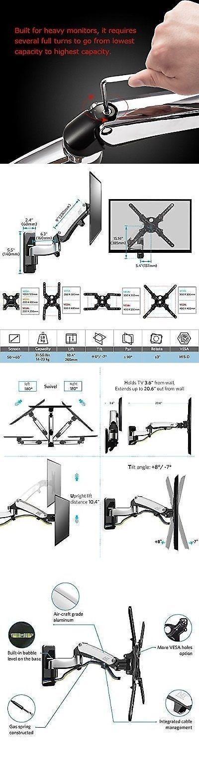 TV Mounts and Brackets: Full Motion Tv Bracket Tilt Swivel For 50 -60 Led Lcd Plasma Articulating.. -> BUY IT NOW ONLY: $76.15 on eBay!