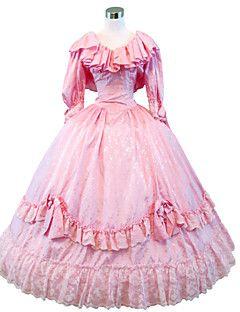 guerra steampunk®civil meridionale abito abito da ballo belle abito rosa vestito vittoriano partito di Halloween