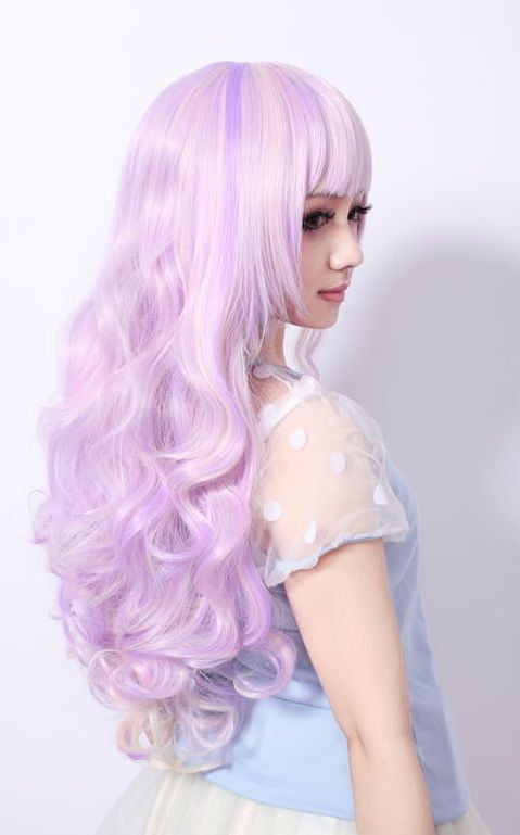 Lolita wigs are so cute, I would love to own one. You can buy them off of Amazon or Etsy.