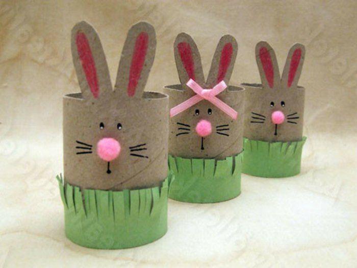 recycler le rouleau de papier toilette, variante de lapins faciles