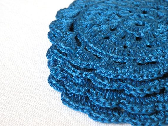crochet coasters  set of 4   handmade coasters by TheRainbowCrafts, €10.00