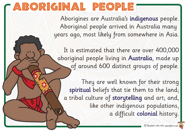 Teacher's Pet Displays » Aboriginal People Posters » FREE downloadable EYFS, KS1, KS2 classroom display and teaching aid resources » A Sparklebox alternative