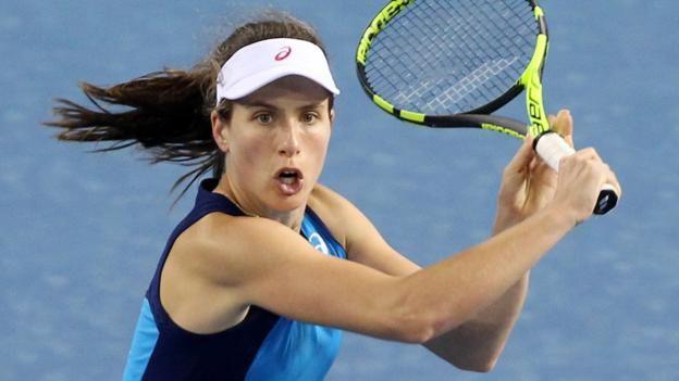 #tennis #news  British number one Konta wins opener
