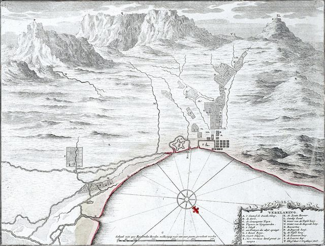 Map of Cape Town 1725