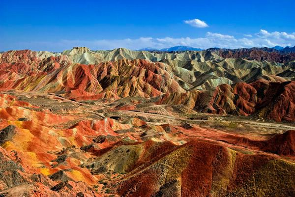 Parque Geológico Zhangye Danxia, en China.
