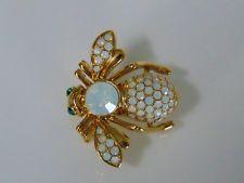 Новые Джоан Риверс кристалла опал камень пчела булавка большая брошь октябрь стразы