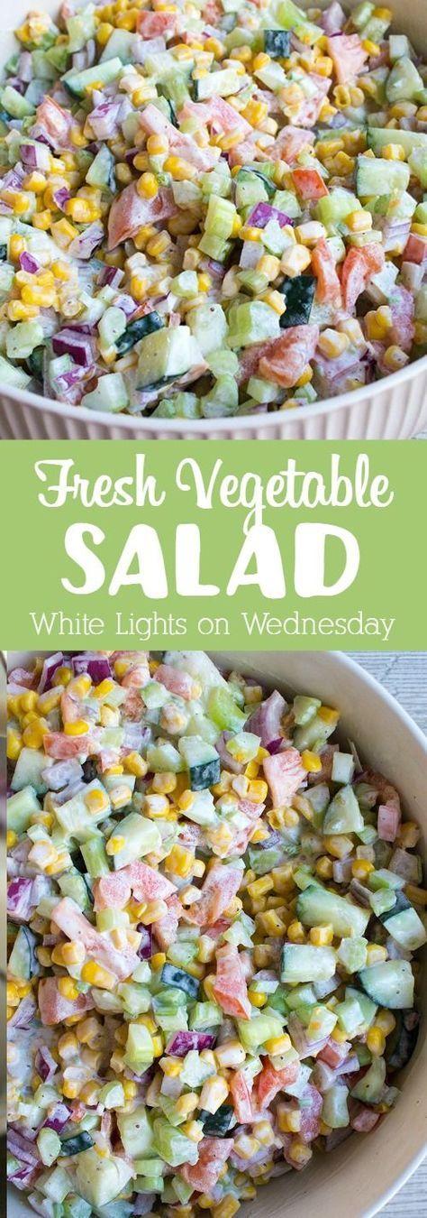 Fresh Vegetable Salad | Recipe | Vegetable salad, Fresh vegetables and Potlucks