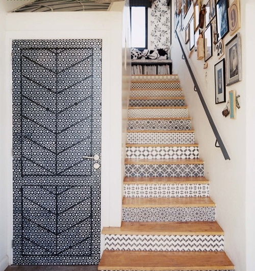 patterned / tile / stairs / via the style files