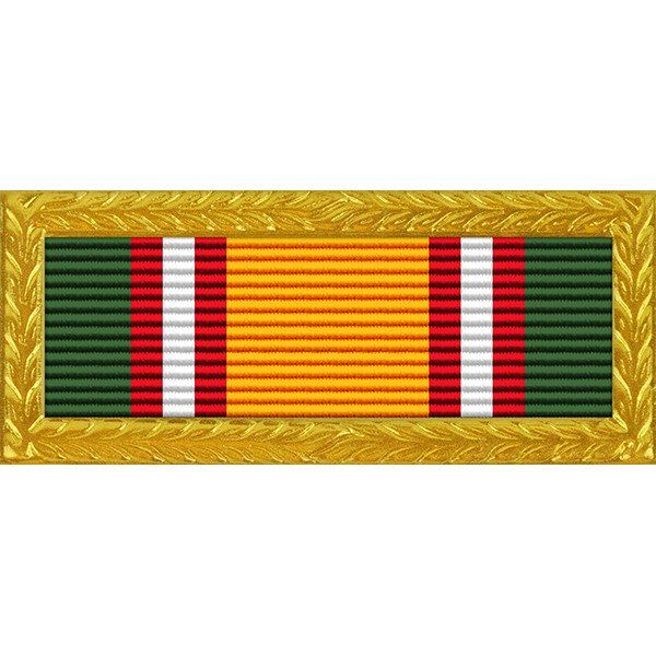 Tennessee National Guard Army Volunteer Recruiting & Retention Ribbon with Large Gold Frame