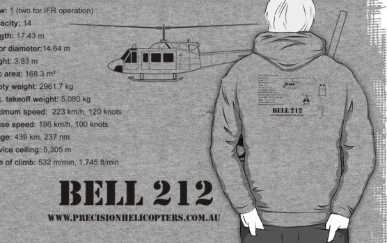 Bell 212 Hoodie $44.55  Also choose as a T-shirt, singlet  http://www.redbubble.com/people/precisionheli/works/12528571-bell-212-twin-huey-helicopter?c=122121-t-shirts&p=t-shirt&ref=work_collections_grid
