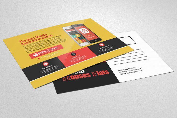 Mobile Apps Postcards 61583 Card Making Design Bundles Business Postcards Business Flyer Templates Card Making Designs
