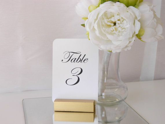 Gold Wedding Deco https://www.etsy.com/listing/228171286/table-number-gold-table-number-holders?ref=shop_home_active_1