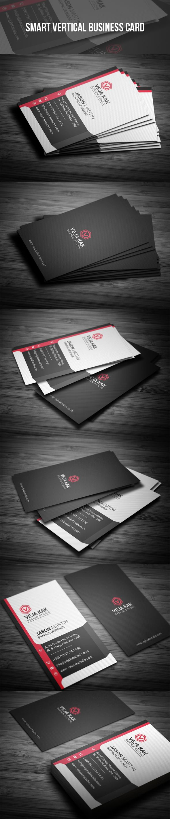 The 25+ best Vertical business cards ideas on Pinterest | Modern ...
