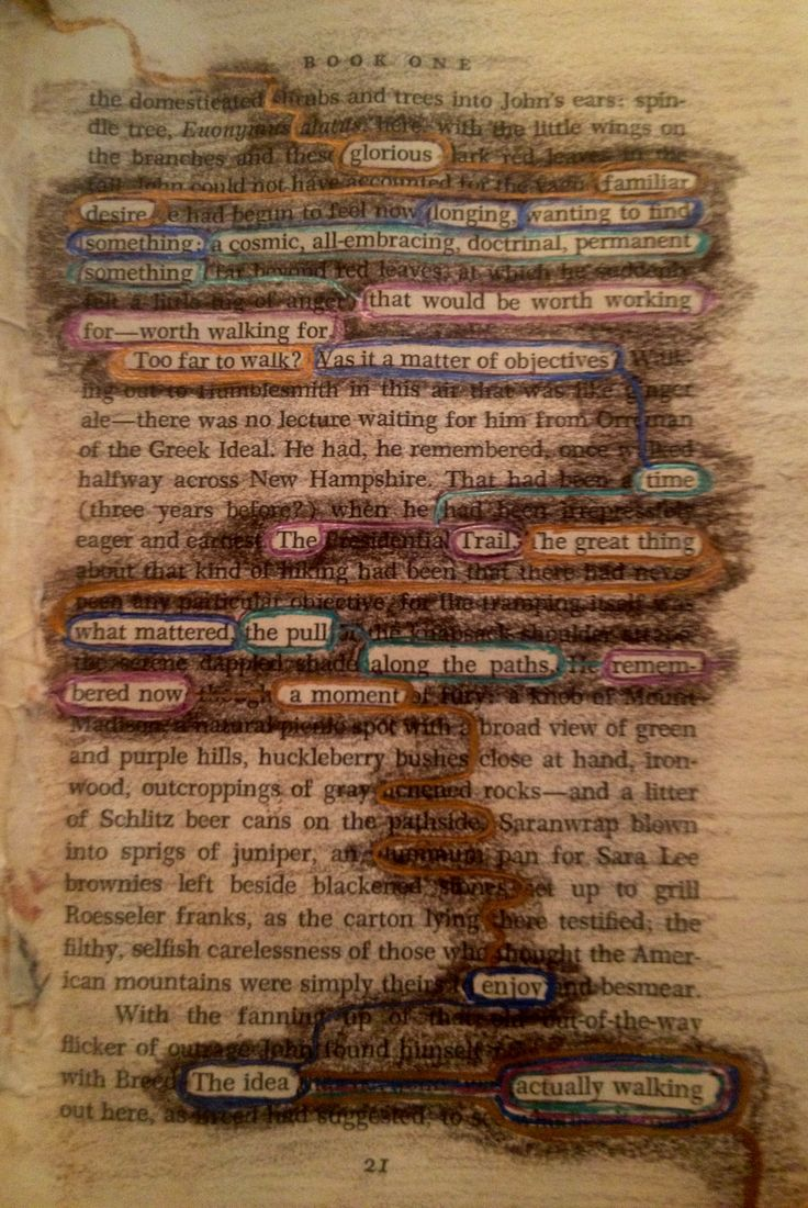 Found Poetry Altered Book Page From An Altered Book Of Mine Called  Reflections