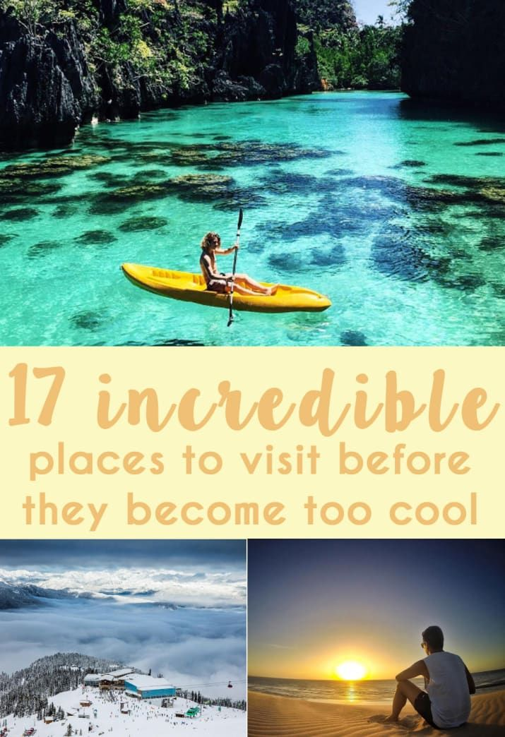 There's nothing worse than going on holiday and being absolutely surrounded by people. They get in the back of your photos, and there are always drunk Australians around ruining the serenity. So here's a list of places which have been getting increasingly good reviews on TripAdvisor, and will probably be the ~New Cool Places~ to visit.
