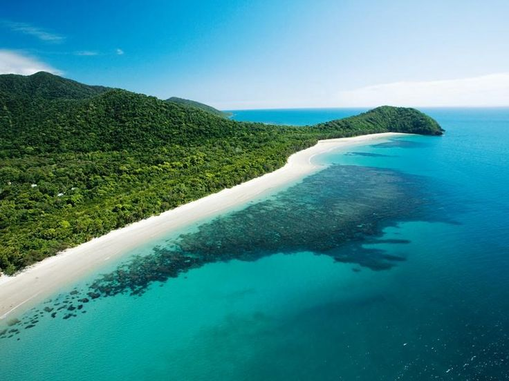 Cape Tribulation   2 worldwonders meet each other Daintree Rainforest on the left Great Barrier Reef on the right