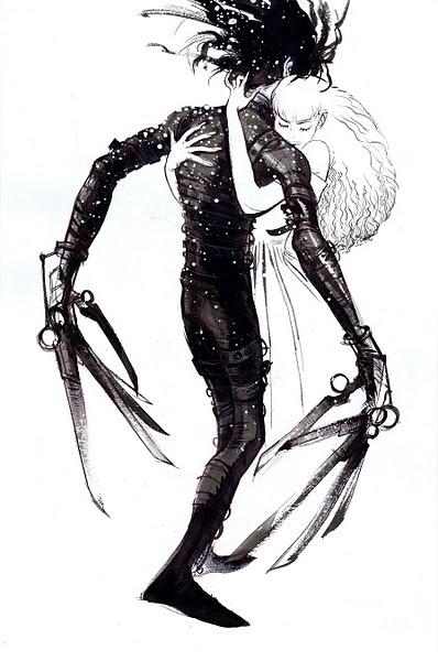 Edward Scissorhands fan art. Just beautiful!
