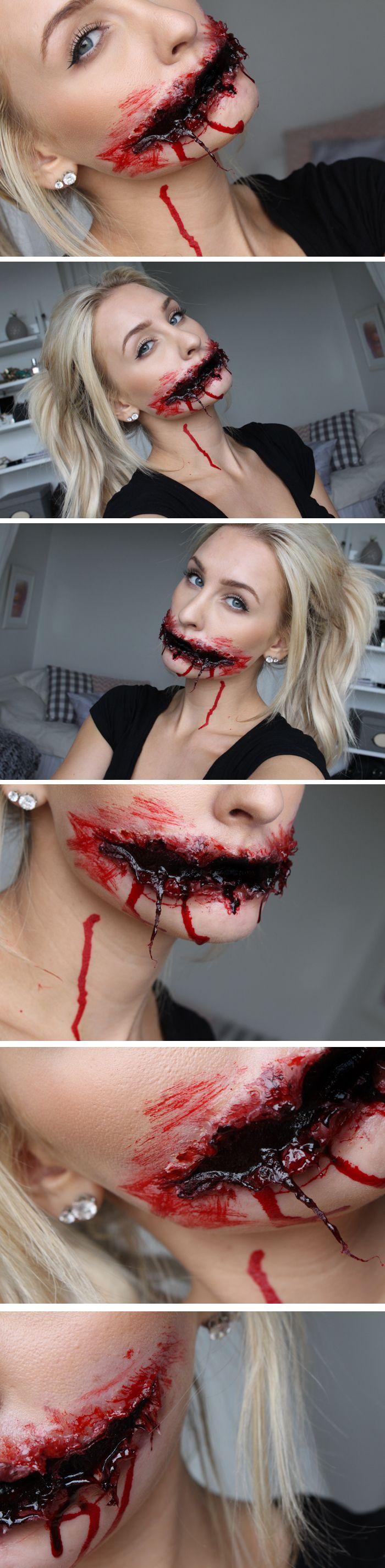 Dagens makeup - Death to duckface (VARNING FÖR BLOD!!)