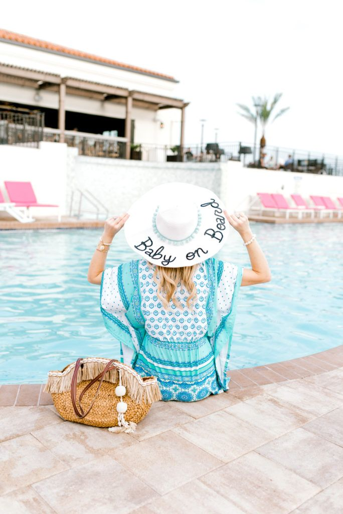 e4dfc464db Baby on board hat - Maternity Clothes - - So Sarah Hunt - Beach hat -  Cabana Life - Bumpstyle