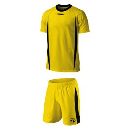 Soccer Gear - Gold and Black  Soccer is the Nation's biggest sport. Inspired by the Italian's flair for design but developed for the South African environment, Acelli football wear, even in kiddies ranges, is a fusion of unique style, quality and modernism – all the elements demanded by today's player.