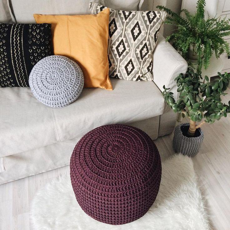 103 отметок «Нравится», 2 комментариев — Таня | ковры пуфы корзины (@kronastore) в Instagram: «Как же здорово и гармонично иногда сочетаются цвета! Меня так восторгает этот дуэт баклажана и…»