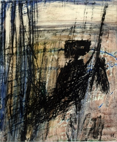 Kelly on Horse by Sidney Nolan